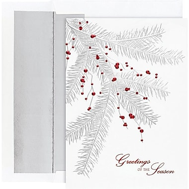 Great Papers® Silver Branch with Berries Holiday Cards & Envelopes