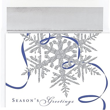 Great Papers® Holiday Cards Silver Snowflakes , 16/Count