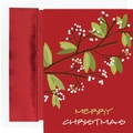 Holiday Berry Branched Boxed Holiday Cards & Envelopes