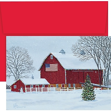 Great Papers® American Barn Boxed Holiday Cards & Envelopes, 18/Pack