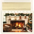 Western Mantel Boxed Holiday  Cards & Envelopes