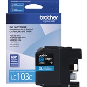 Brother Ink Cartridge, Cyan, High Yield (LC103C)