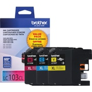 Brother Ink Cartridges, Color, High Yield 3/Pack (LC1033PKS)