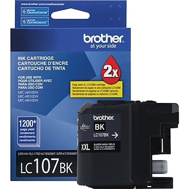 Brother LC107 Black Ink Cartridge (LC107BKS), Super High Yield