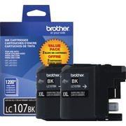 Brother LC1072 Black Ink Cartridges, Super High-Yield, Twin Pack
