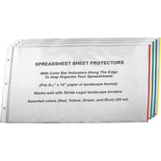 Stride Easy Fit Landsacape Sheet Protectors with Color Bar Indicators, 8 1/2 x 14, 60 Sheets/Case