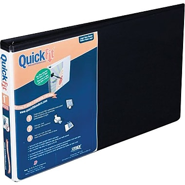 1 in. Stride® Quick Fit® Landscape Oriented 8 1/2in. x 14in., Black