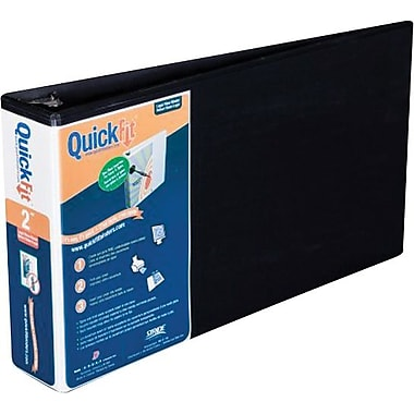 2in. Stride® QuickFit™ 8 1/2in. x 14in. Landscape Orientation Round Ring View Binder, Black