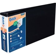 2 Stride® QuickFit™ 8 1/2 x 14 Landscape Orientation Round Ring View Binder, Black