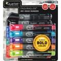 Quartet EnduraGlide® Dry-Erase Markers, Chisel Tip, Assorted Ink, Dozen