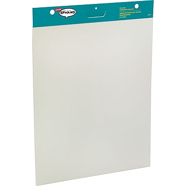 Staples® Stickies™ Restickable 30in. x 25in., Easel Pad, White, 2/Pack