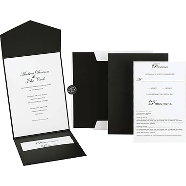 Great Papers­­® Black and White Pocket Invitation Kit