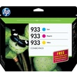 HP 933 Color Ink Cartridge (B3B32FN#140), Combo Creative 3/Pack