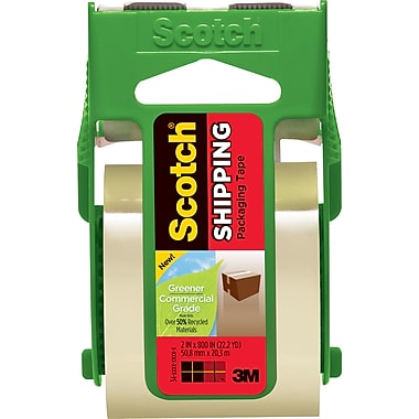 Scotch® Greener Commercial-Grade Shipping Tape, 2in. x 700in.