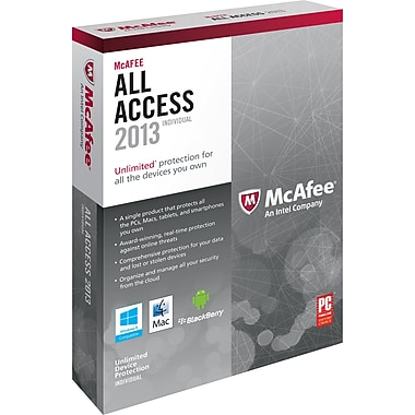 McAfee All Access 2013 - Individual for Windows/Mac/Android/Blackberry (1-User) [Boxed]