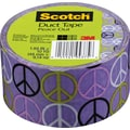Scotch® Brand Duct Tape, Peace Out, 1.88in. x 10 Yards