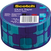 "Scotch® Brand Duct Tape, Retro Tiles, 1.88"" x 10 Yards"