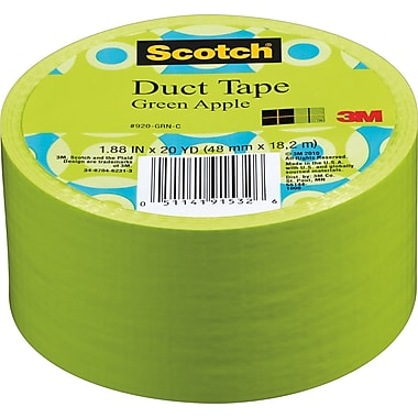Scotch® Brand Duct Tape, Green Apple, 1.88