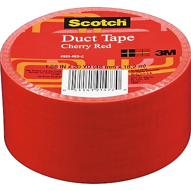 Scotch® Brand Duct Tape, Cherry Red, 1.88in. x 20 Yards