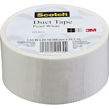 Scotch® Brand Duct Tape, Pearl White, 1.88in. x 20 Yards