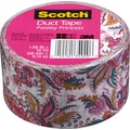 Scotch® Brand Duct Tape, Paisley Princess, 1.88in. x 10 Yards