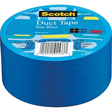 Scotch® Brand Duct Tape, Sea Blue, 1.88