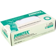 Ambitex Latex Exam Glove, Powdered, Smooth Finish, Medium, 1,000/Carton