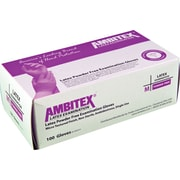 Ambitex Latex Exam Glove, Powder-Free, Textured Finish, Large, 1,000/Carton