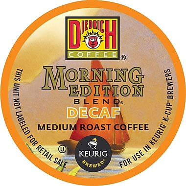Keurig K-Cup Diedrich Morning Edition Blend Coffee, Decaffeinated, 24/Pack