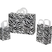 Shamrock Printed Zebra Stripes Frosted Bag, 16 x 6 x 12