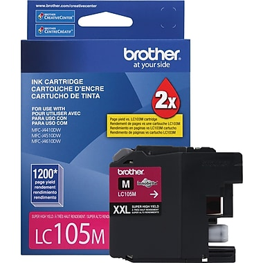 Brother Ink Cartridge, Magenta, Super High Yield (LC105M)