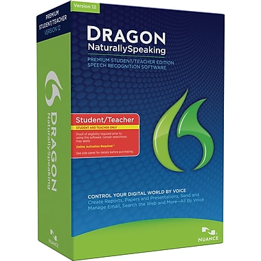 Dragon Naturally Speaking Premium 12 for Windows (1-User) [Student & Teacher Edition] [Boxed]