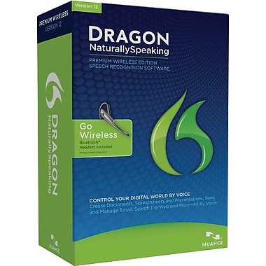 Dragon Naturally Speaking Premium 12 Wireless for Windows (1-User) [Boxed]