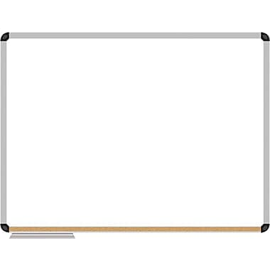 The Board Dudes 35 x 47 Corx Silver Framed Dry Erase Board