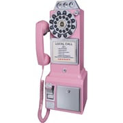 Crosley Radio 1950's Pay Phone, Pink