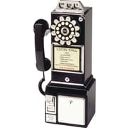 Crosley Radio 1950's Pay Phone, Black