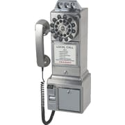 Crosley Radio 1950's Pay Phone, Brushed Chrome