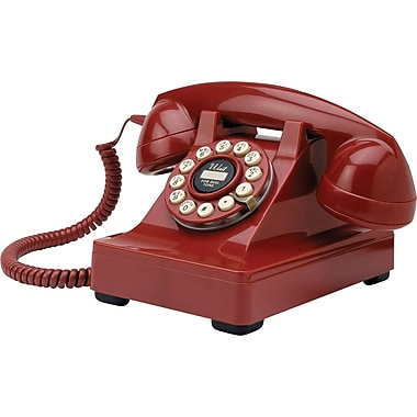 Crosley Radio Kettle Desk Phone, Red