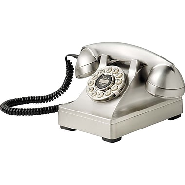 Crosley Radio Kettle Desk Phone, Brushed Chrome