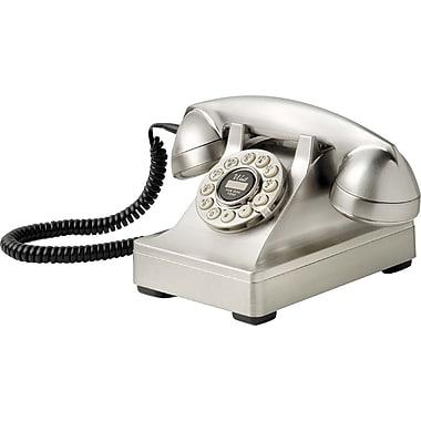 Crosley Radio Kettle Desk Phone, Brushed Chrome