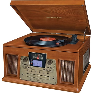 Crosley Radio Performer CD and Record Player, Paprika