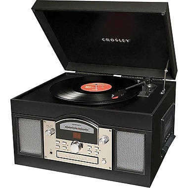 Crosley Radio Archiver CD and Record Player, Black