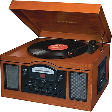 Crosley Radio Archiver CD and Record Player, Paprika