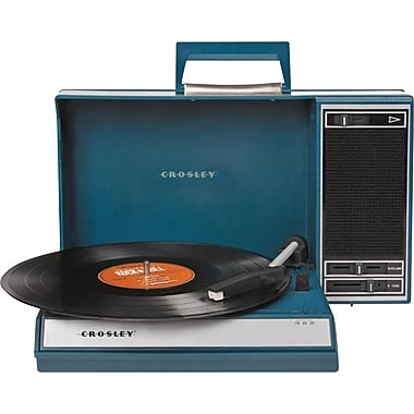 Crosley Radio Spinnerette Record Player, Blue
