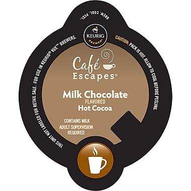 Keurig Vue Pack Cafe Escapes Milk Chocolate Hot Cocoa, 32/Pack