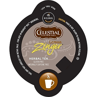 Keurig Vue Pack Celestial Seasonings Lemon Zinger Herbal Tea, 32/Pack