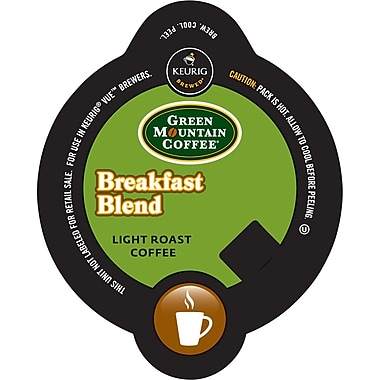 Keurig Vue Pack Green Mountain Breakfast Blend Coffee, Regular, 32/Pack