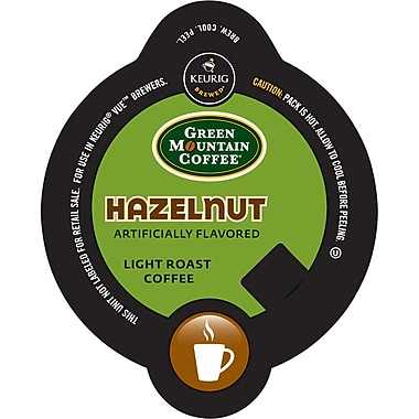 Keurig Vue Pack Green Mountain Hazelnut Coffee, Regular, 32/Pack
