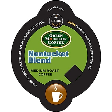 Keurig Vue Pack Green Mountain Nantucket Blend Coffee, Regular, 32/Pack
