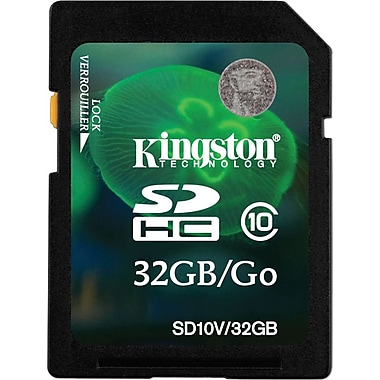 Kingston® 32GB SDHC Card (Class 10)